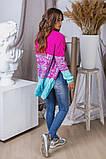 Жіночий стильний в'язаний кардиган акрил+шерсть розмір універсал 42-46, фото 4