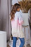 Жіночий стильний в'язаний кардиган акрил+шерсть розмір універсал 42-46, фото 6