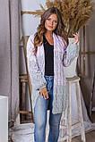 Жіночий стильний в'язаний кардиган акрил+шерсть розмір універсал 42-46, фото 10