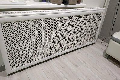Короб на батарею Decorpaneli 68х150х17 см Белый
