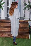 Жіночий стильний в'язаний кардиган акрил+шерсть розмір універсал 42-46, фото 5