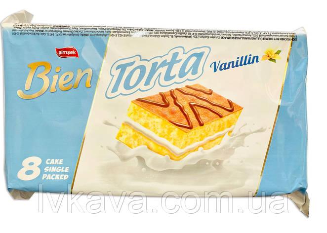 Бісквіт Bien Torta з ванільним кремом , 8 х 25 гр, фото 2