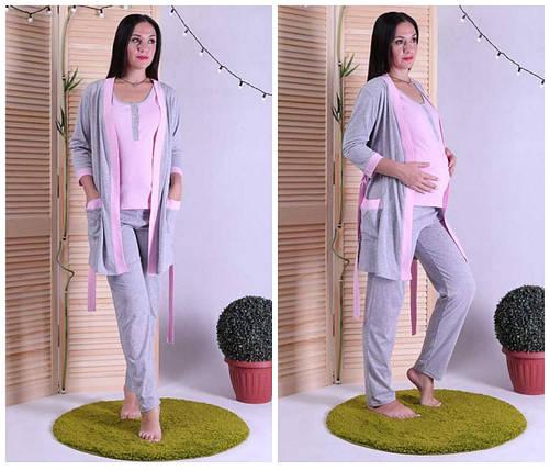 Женский комплект халат с пижамой, фото 2