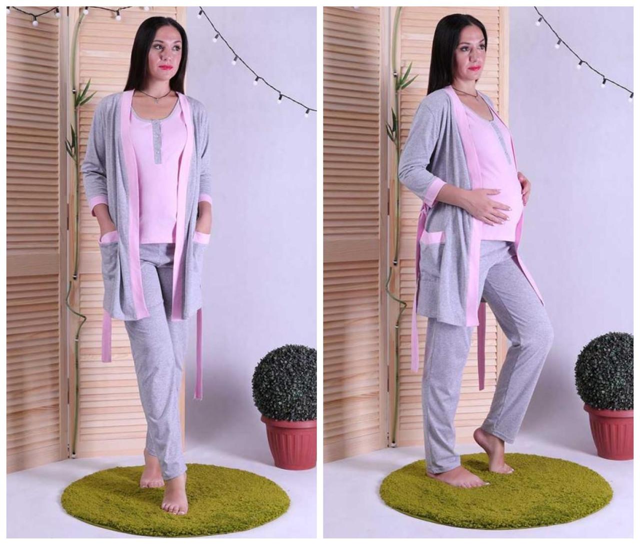 Женский комплект халат с пижамой