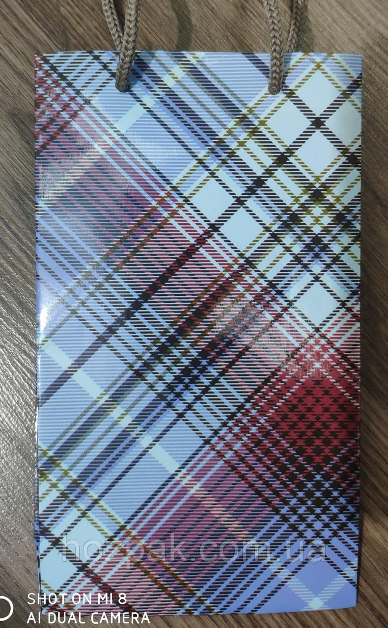 Пакет подарунковий паперовий малий 11х18х6