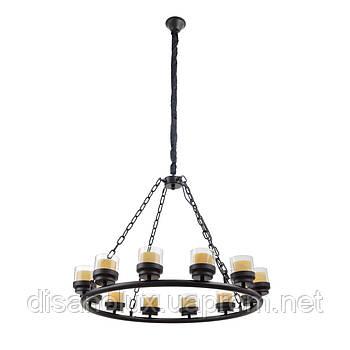 Люстра подвесная свеча лофт BL-387S/12 E27 BK
