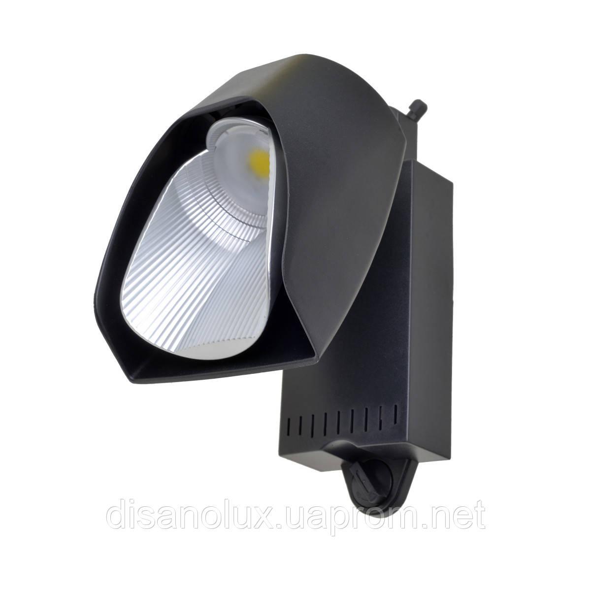 Светильник трековый поворотный LED светодиодный KW-227/40W NW BK
