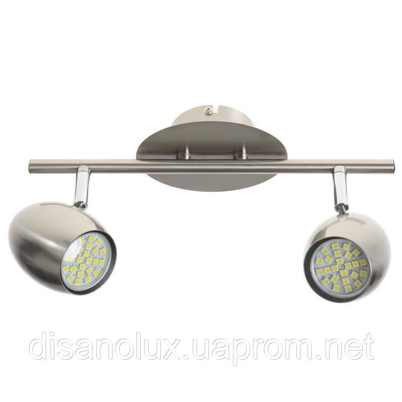 Светильник настенно-потолочный спот поворотный накладной HTL-175/2 GU10 SL