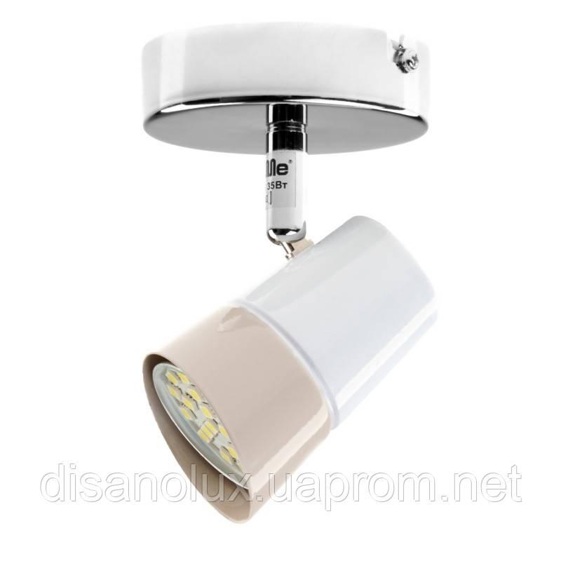 Светильник настенный накладной спот HTL-184/1 GU10 CH+WH