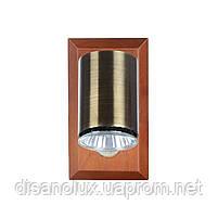 Светильник настенный накладной спот деревянный HTL-99/1, фото 2