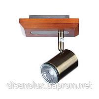 Светильник настенный накладной спот деревянный HTL-99/1, фото 3