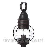 Уличный фонарь лофт GL-100 DL BK столбик, фото 2