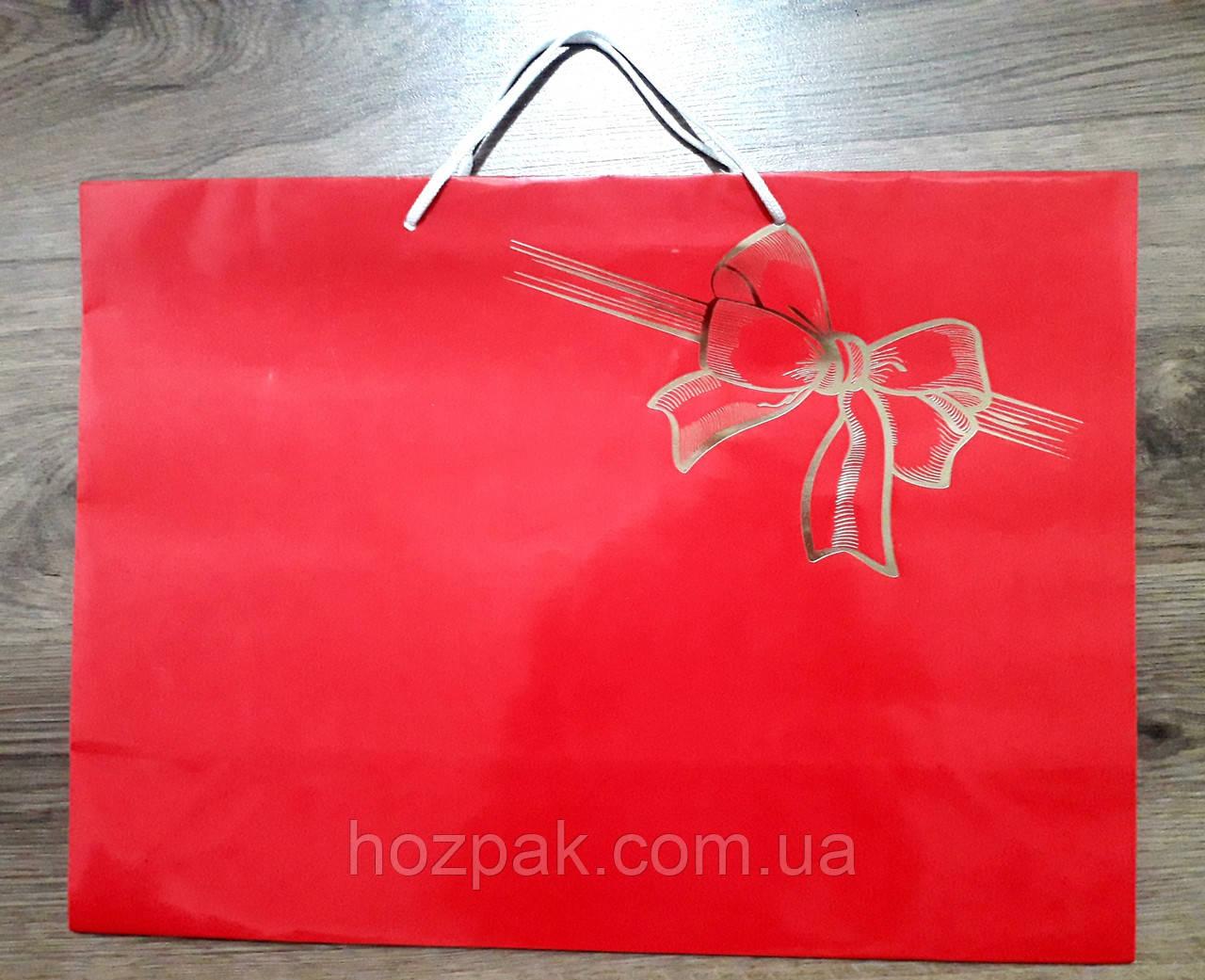 Пакет подарунковий паперовий гігант горизонтальний 46х32х15