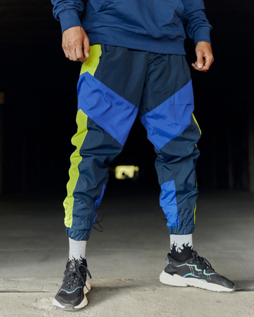 Спортивні штани Гармата Вогонь Split синьо-салатові