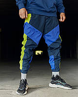 Спортивні штани Гармата Вогонь Split синьо-салатові, фото 1