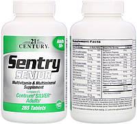 21st Century, Комплекс витаминов и минералов, Витаминный комплекс с минералами Sentry Senior, 265 таблеток