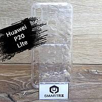 Прозрачный силиконовый чехол для Huawei P20 Lite, фото 1
