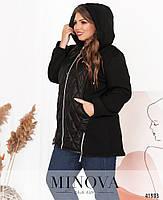 Приваблива куртка батал з підкладкою на місці простьобаних частин з 52 по 66 розмір, фото 5