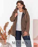 Приваблива куртка батал з підкладкою на місці простьобаних частин з 52 по 66 розмір, фото 9