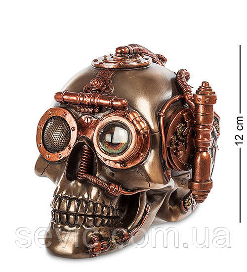 Статуэтка-шкатулка Veronese в стиле Стимпанк Череп 12 см 1903749