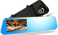 Зеркало видеорегистратор DVR  экран 2 камеры, фото 1