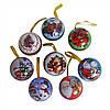 Коробочка-подвеска для подарков круглая Fuchsia с принтами, пластик, коробочка-подвеска, коробочка для подарков