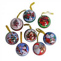 Коробочка-подвеска для подарков круглая Fuchsia с принтами, пластик, коробочка-подвеска, коробочка для подарков, фото 1