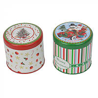 """Коробка для подарков """"Merry Christmas"""" круглая, с принтом, коробка для подарков, подарочная новогодняя коробка, фото 1"""