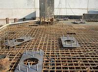 Армирование фундаментов и установка закладных деталей