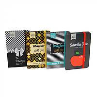 """Блокнот для записей в твердой ламинированной обложке с резинкой """"Fashion"""" в упаковке 24шт, 15х10см, линия, блокнот для записей, блокнот на резинке, фото 1"""