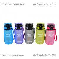 """Пластиковая спортивная бутылочка для воды """"Elegant"""" разные цвета, бутылка спортивная, многоразовая бутылка, фото 1"""