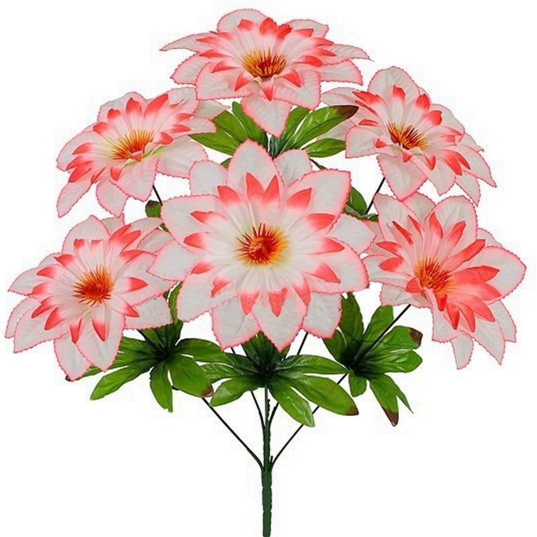 Искусственные цветы букет хризантема, 57см (10 шт в уп.)