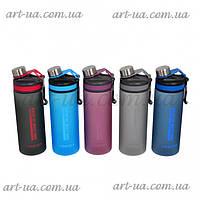"""Пластиковая спортивная бутылочка для воды """"Classic of life"""" разные цвета, бутылка спортивная, многоразовая, фото 1"""