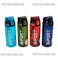 """Пластиковая спортивная бутылочка для воды """"Sport life"""" разные цвета, бутылка спортивная, многоразовая бутылка, фото 1"""