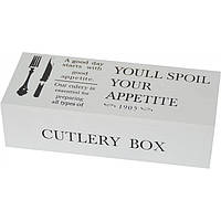 "Декоративная шкатулка под вилки и ложки ""Good appetite"" прямоугольная, шкатулка под приборы, шкатулка для"