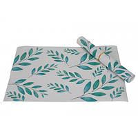 Текстильные настольные салфетки для сервировки Ensete белые с принтом, салфетки для стола, сервировочные