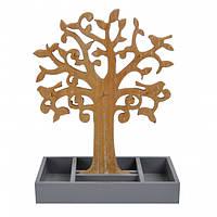 """Подставка для украшений """"Деревце"""" коричневое, подставка для ювелирных изделий, органайзер для украшений"""