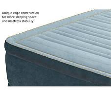Кровать надувная 99х191х33 см. Велюровая Intex 67766 со встроенным насосом, фото 3