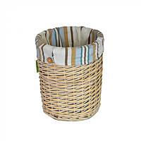 Корзина для хранения белья Kerria без крышки, коричневый, лоза, 35х31см, корзины бельевые, плетеные корзины