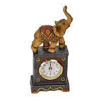 """Дизайнерская фигурка для декора """"Слон"""" с часами, статуэтки, декоративные фигурки"""