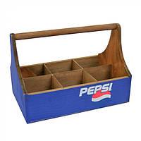 """Бокс с разделителями для бутылок """"Pepsi"""" бокс для Pepsi, бокс с разделителями"""