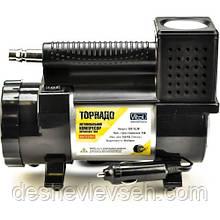 Компрессор VITOL Торнадо 1 цилиндр (прикур,фонарь, шланг 3м) шланг спираль (КА-T12181), (Vitol)