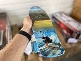 Скейт Penny Board, с широкими светящимися колесами Пенни борд, детский , от 5 лет расцветка Спорт, фото 4