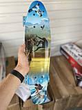 Скейт Penny Board, с широкими светящимися колесами Пенни борд, детский , от 5 лет расцветка Спорт, фото 5