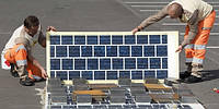 Частная компания показала прототип дорожного покрытия с солнечными панелями