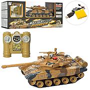Детский радиоуправляемый танк 778-3 4G, аккум, 32см, звук, свет, дым, USB заряд,
