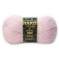 Пряжа Nako King Moher , цвет 10639 пудра