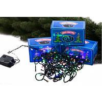 Гирлянда  Электрическая 200 лампочек светодиодная LED цветная усиленый кабель 20 м