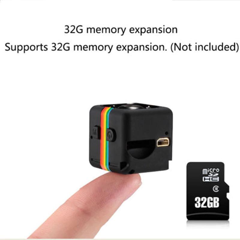 Мини камера видеорегистратор SQ11 с датчиком движения, ночной режим, подсветка, Full HD 1080