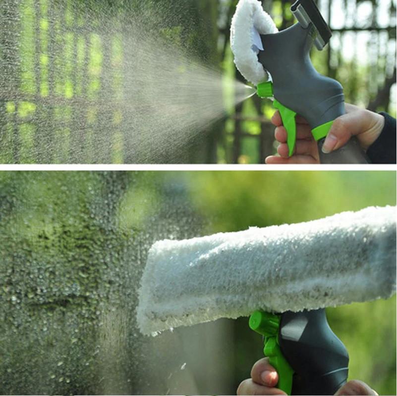 Щетка Скребок для мытья окон Easy Glass 3 in 1 Spray Window Cleaner